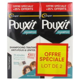 Pouxit Shampoing Traitant Anti-Poux & Lentes Lot de 2 x 250 ml