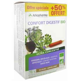 Arkofluides Confort Digestif Bio 20 Ampoules + 10 Ampoules Offertes