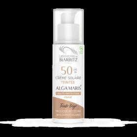 ALGA MARIS crème solaire visage teintée SPF50 BIO teinte beige 50ml