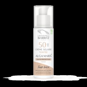 ALGA MARIS crème solaire visage teintée SPF50 BIO teinte ivoire 50ml