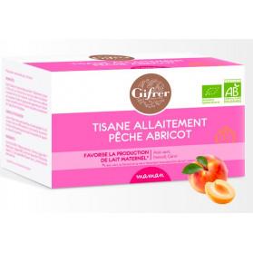 Gifrer tisane allaitement pêche-abricot 20 sachets