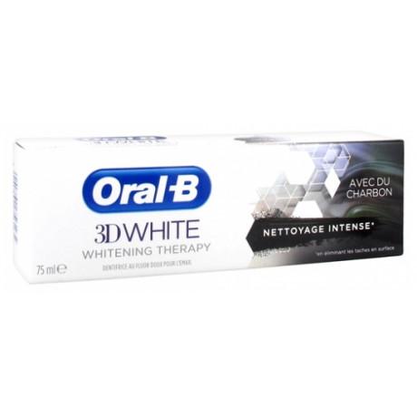 Oral-B 3D White Whitening Therapy Nettoyage Intense Charbon 75 ml