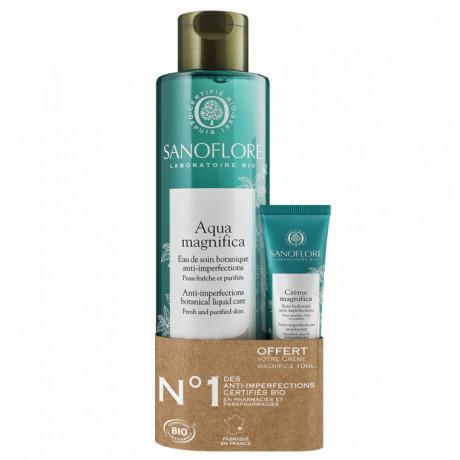 Sanoflore aqua magnifica 200ml + magnifica crème format voyage 10ml offert