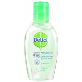 Dettol Gel Désinfectant Antibactérien Aloe Vera 50 ml