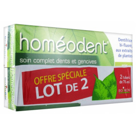 Homeodent soin complet dentifrice dents et gencives anis 2x75ml