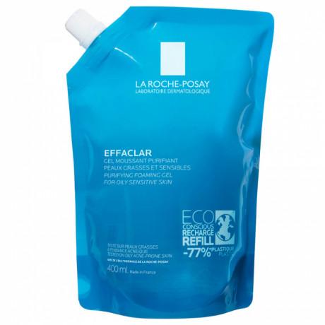 La roche posay Effaclar gel moussant peaux grasses et sensibles eco-recharge 400ml
