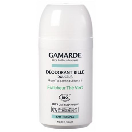 Gamarde Hygiène Douceur Déodorant Bille Douceur Bio 50 ml - Parfum : Fraîcheur Thé Vert
