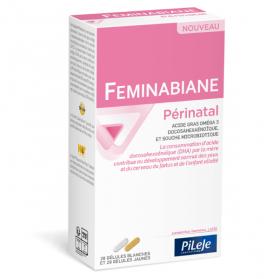Pileje Feminabiane Périnatal 28 gélules blanches et 28 gélules jaunes