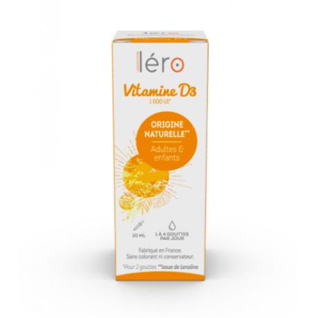Lero Vitamine D3 d'origine naturelle 20ml