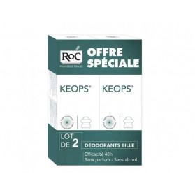RoC Keops Déodorant à Bille Lot de 2 x 30 ml