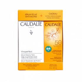 Caudalie coffret sérum vinoperfect + crème solaire visage SPF50+ offerte