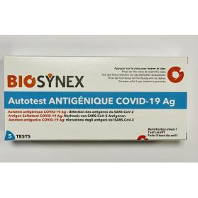 Autotest BIOSYNEX COVID-19 Ag+ boite de 5 tests