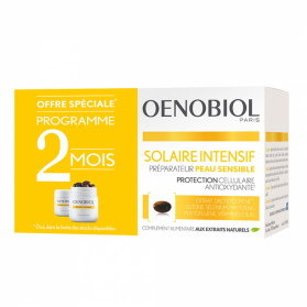 Oenobiol solaire intensif nutriprotection peau sensible 2x30 capsules