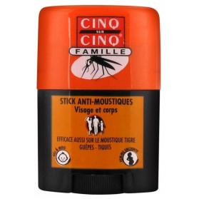 Cinq sur Cinq Famille Stick Anti-Moustiques Visage et Corps 20 ml