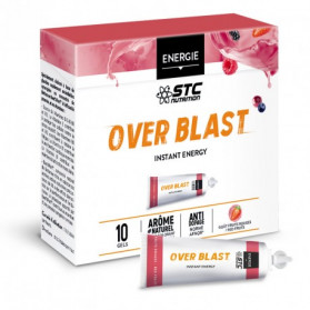 STC NUTRITION OVER BLAST Instant energy Fruit rouges boite de 10 gels