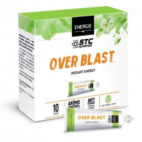 STC NUTRITION OVER BLAST Instant Energy gout pomme boite de 10 gels