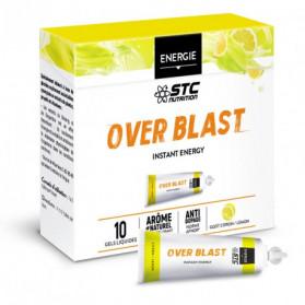 STC NUTRITION OVER BLAST Instant Energy gout citron boite de 10 gels