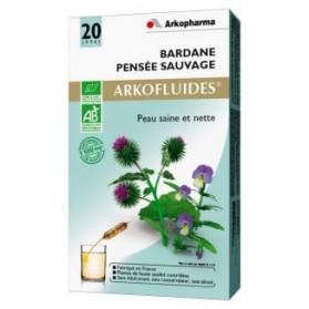 Arkofluides Bardane Pensée sauvage Bio 20 ampoules buvables de 15ml