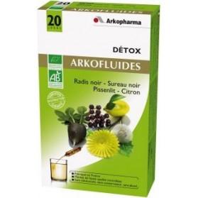Arkofluides Détox Bio 20 ampoules buvables de 15ml