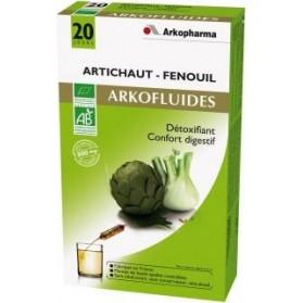 Arkofluides Artichaut-Fenouil Bio 20 ampoules buvables de 15ml