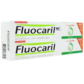 Fluocaril bi-fluoré dentifrice à la menthe 145mg lot 2x75ml