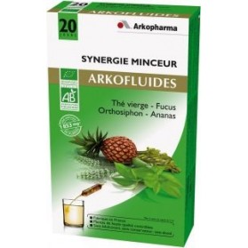 Arkofluides Synergie minceur Bio 20 ampoules buvables de 15ml