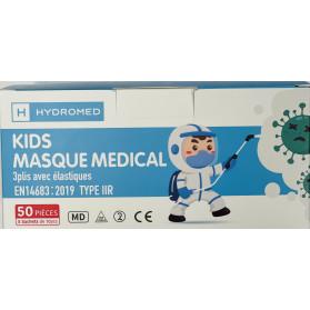 Masque chirurgical enfant BLEU boite de 50 masques