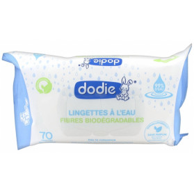 Dodie Lingettes 3en1 biodégradables paquet de 70