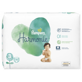Pampers Harmonie 74 Couches Taille 3 (6-10 Kg)