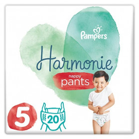 Pampers Harmonie Pants 20 Couches-Culottes Taille 5 (12-17 kg)
