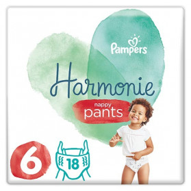 Pampers Harmonie Nappy Pants 18 Couches-Culottes Taille 6 (15+ kg)