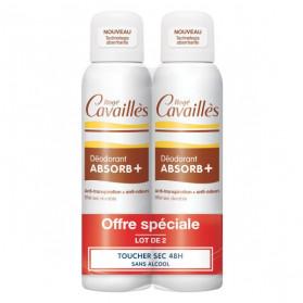 Rogé Cavaillès Absorb+ Déodorant Toucher Sec Spray Lot de 2 x 150ml