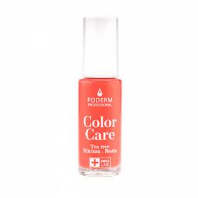 Poderm color care vernis tea tree silicium couleur corail 8ml
