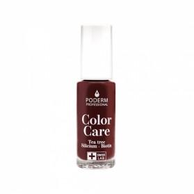 Poderm color care vernis tea tree silicium couleur rouge noir 8ml