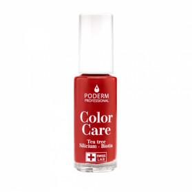 Poderm Color Care Vernsi tea tree silicium couleur rouge allure 8ml