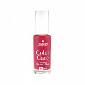 Poderm color care vernis tea tree silicium couleur rouge rose 8ml