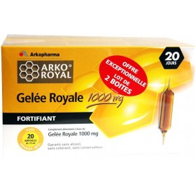 Arko Royal Gelée Royale 1000mg lot de 2 boites de 20 ampoules de 15ml