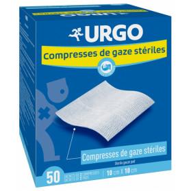 Urgo Compresses de Gaze Stériles 10 cm x 10 cm 50 Sachets de 2 Compresses