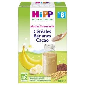HiPP Céréales Bananes Cacao dès 8 Mois Bio 250 g