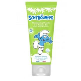 LE COMPTOIR DU BAIN Les Schtroumpfs - Shampooing Douche Parfum Pomme BIO - 200ml