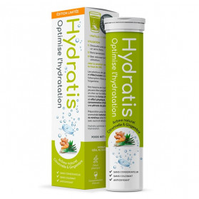 Hydratis Solution d'Hydratation Citronnelle Gingembre 20 Pastilles
