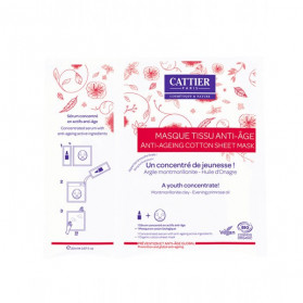 Cattier Masque Tissu Anti-Age Bio 20ml