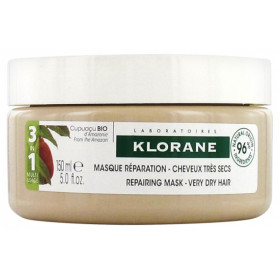 Klorane Masque Réparation - Cheveux Très Secs 3en1 au Beurre de Cupuaçu Bio 150 ml