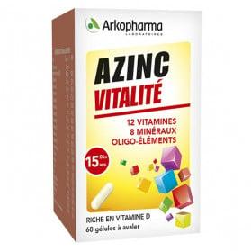 Arkopharma Azinc Adulte Vitalité Vitamines C & E Zinc 60 gélules