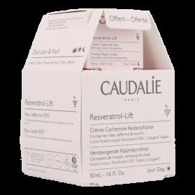 Caudalie Resveratrol-Lift Crème Cachemire Redensifiante + Crème Tisane de Nuit | 50 + 15 ml PROMO
