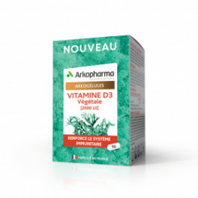 Arkopharma Arkogelules Vitamine D3 végétale 90 gélules