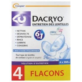 Dacryo Entretien des Lentilles Lot de 4 x 360 ml