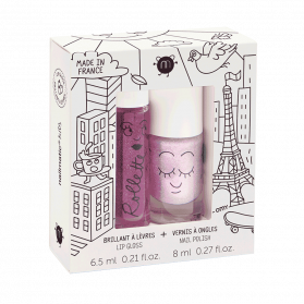 Nailmatic Kids Coffret duo rollette + vernis - Lovely City