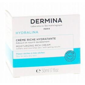 DERMINA Hydralina crème riche hydratante pot 50ml