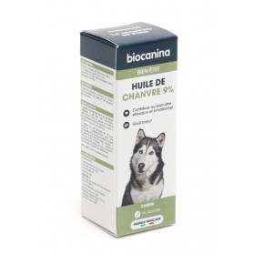 Biocanina Bien-être Chien huile de chanvre 9 % 10ml